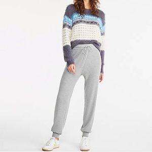 Lou & Grey Cashmere Blend Gray Joggers Size XS/S